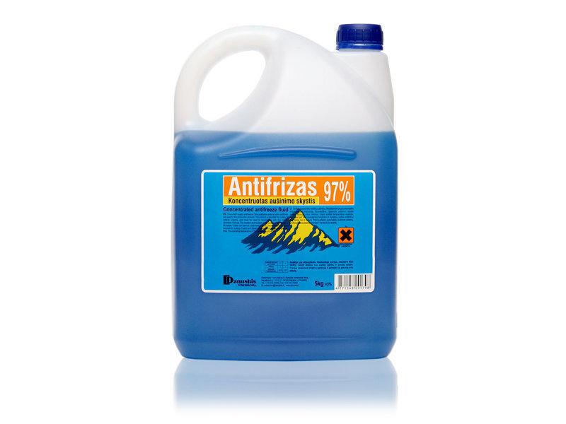 Koncentrēts antifrīzs, zils 97% 5kg cena un informācija | Auto kopšanas līdzekļi | 220.lv