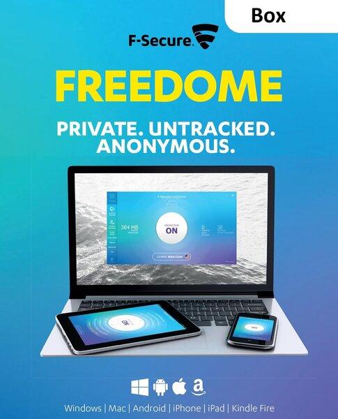 F-Secure Freedome 1gads 3ierīcēm Box licence cena un informācija | Antivīrusi | 220.lv