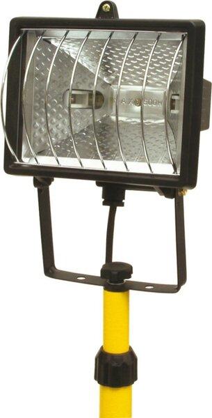 Halogēna prožektors 400W + teleskopiskais statīvs 0.8-2m Vorel cena un informācija | Āra apgaismojums | 220.lv