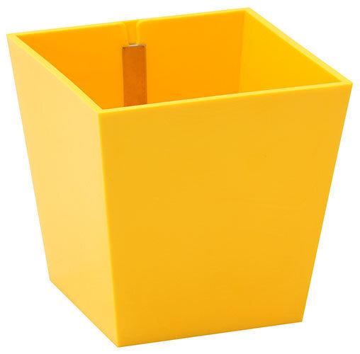 Puķu pods ar magnētu ''PIRAMIDĖ'', dzeltens, 9cm cena un informācija | Dekoratīvie puķu podi | 220.lv