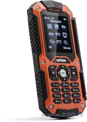MyPhone HAMMER Dual Sim Black/Orange ENG/RUS (Чёрный/Оранжевый) цена