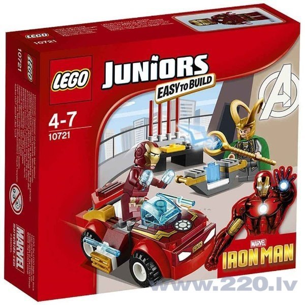 Конструктор Lego Juniors Iron Man vs. Loki 10721 цена и информация | LEGO | 220.lv