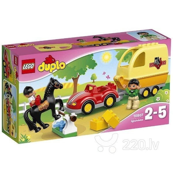 Konstruktors Lego Duplo Horse Trailer 10807 cena un informācija | LEGO | 220.lv