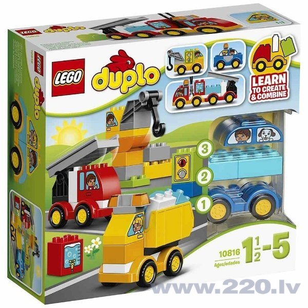 Конструктор Lego Duplo My First Cars and Trucks 10816 цена и информация | LEGO | 220.lv
