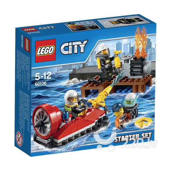 Конструктор Lego City Fire Starter Set 60106 цена и информация | LEGO | 220.lv