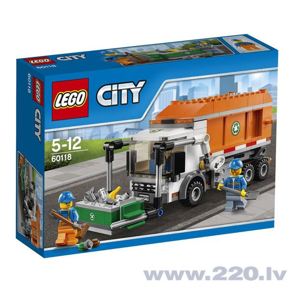Конструктор Lego City Garbage Truck 60118 цена и информация | LEGO | 220.lv