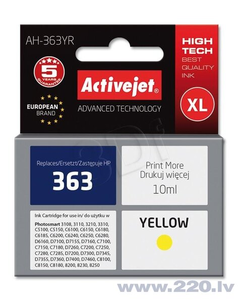 Ink ActiveJet AH-773 | Yellow | 10 ml | Refill | HP C8773EE