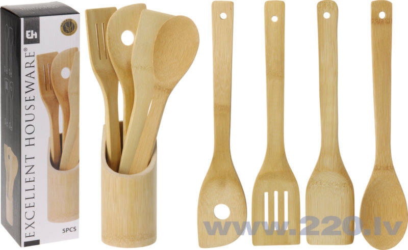 Virtuves piederumu komplekts, 5 daļas cena un informācija | Virtuves piederumi | 220.lv