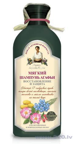 Šampūns krāsotiem matiem Recepty Babuški Agafji 350 ml cena un informācija | Šampūni | 220.lv