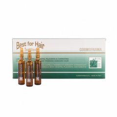 Ampulas matu atjaunošanai Cosmofarma 12x10 ml cena un informācija | Ampulas matu atjaunošanai Cosmofarma 12x10 ml | 220.lv