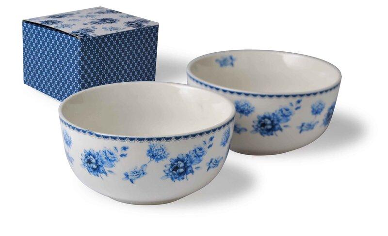 Porcelāna bļodas BLUE LINE, 2 gab cena un informācija | Trauki | 220.lv