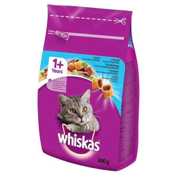 Whiskas 1+ sausā barība kaķiem ar tunci 300 g cena un informācija | Sausā barība kaķiem | 220.lv