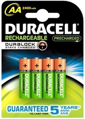 Duracell Rechargeable Accu Stay Charged 2400mAh HR6 AA (LR6), 4 шт. цена и информация | Duracell Rechargeable Accu Stay Charged 2400mAh HR6 AA (LR6), 4 шт. | 220.lv