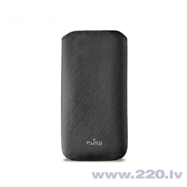 Чехол PURO ECOLEATHER iPhone 5 (PCSLIMIPHONE5BLK) цена и информация | Maciņi, somiņas | 220.lv