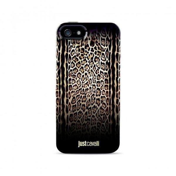 Aizmugures apvalks JUST CAVALLI LEOPARD iPhone 5 (JCIPC5LEOPARD2) cena un informācija | Maciņi, somiņas | 220.lv