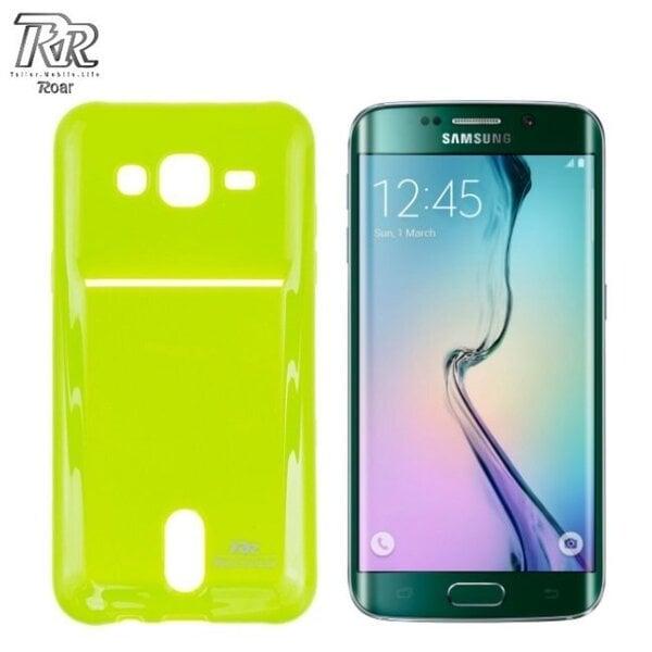 Roar Super Plāns Aizmugures Maks ar nodalījumu kartēm Samsung G925 Galaxy S6 Edge Gaiši Zaļš (EU Blister) cena un informācija | Maciņi, somiņas | 220.lv