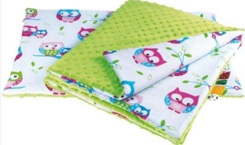 Bērnu sega un spilvens Pūces cena un informācija | Dekoratīvie gultas pārklāji un pledi | 220.lv