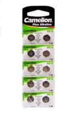 "Camelion Alkaline Button celles 1.5V (AG10) LR54/LR1131/389, 10-pack, ""no mercury"""
