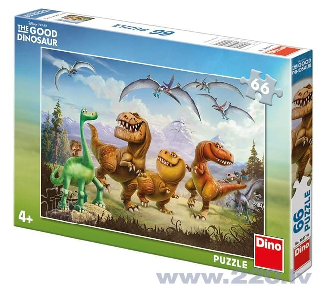 Puzle Dino The Good Dinosaur: Arlo un draugi, neon (66d.), 384170 cena un informācija | Puzles, 3D puzles | 220.lv