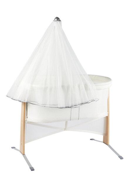 Baldahīns bērnu gultiņai Babybjorn Harmony, balts, 042021 cena un informācija | Bērna drošība | 220.lv