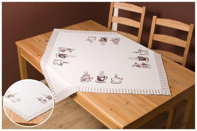 Galdauts ar dabīgu lina audumu Cappuccino, 110 x 160 cm cena un informācija | Galdauti, virtuves dvieļi | 220.lv
