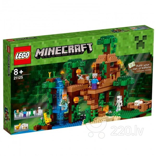 Konstruktors Lego Minecraft The Jungle Tree House 21125 cena un informācija | LEGO | 220.lv