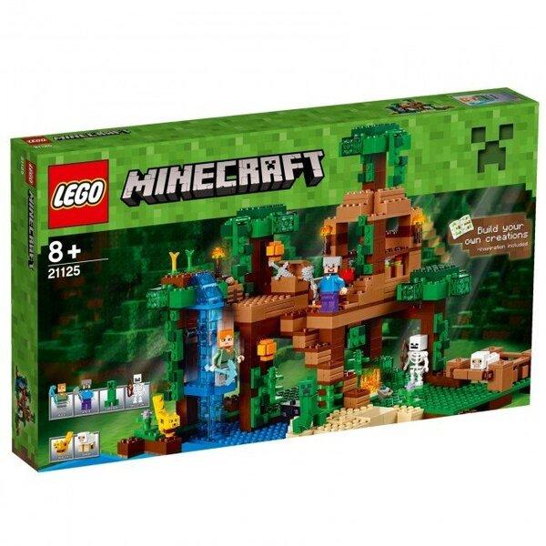 Конструктор Lego Minecraft The Jungle Tree House 21125 цена и информация | LEGO | 220.lv