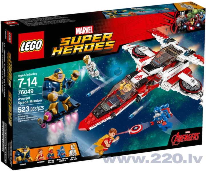 Конструктор Lego Super Heroes Avenjet Space Mission 76049 цена и информация | LEGO | 220.lv