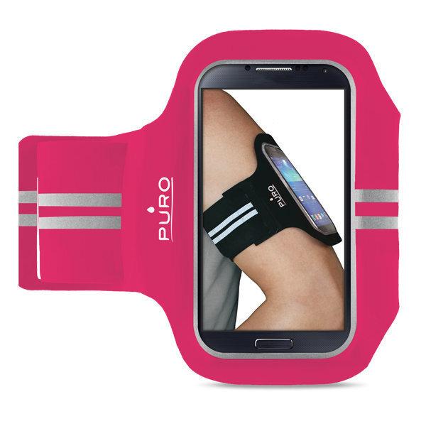 Универсальный PURO UNIBAND чехол для спорта, розовый cena un informācija | Maciņi, somiņas | 220.lv