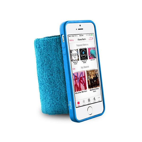 Sporta mīkstā aproce telefonam iPhone 5/5S/SE - Puro, Zils cena un informācija | Maciņi, somiņas | 220.lv