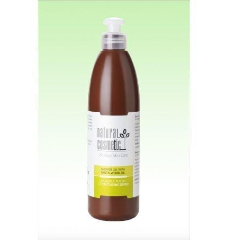 Dušas želeja ar sandalkoka eļļu Natural Cosmetic 300 ml cena un informācija | Mazgašanās līdzekļi | 220.lv