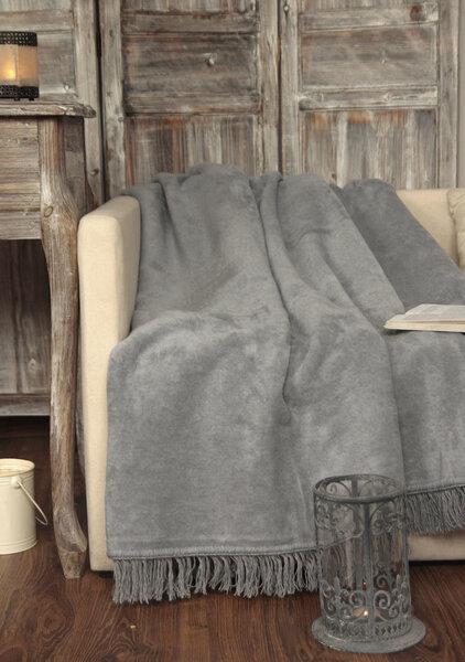 Хлопковый плед цена и информация | Dekoratīvie gultas pārklāji un pledi | 220.lv