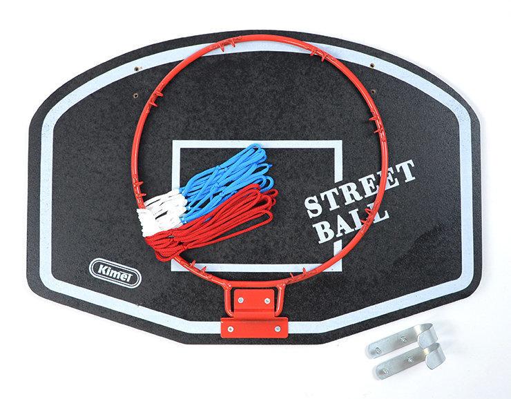 Basketbola vairogs ar grozu Kimet Street ball cena un informācija | Basktebola bumbas, statīvi un grozi | 220.lv
