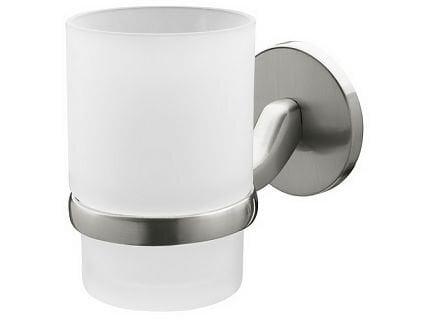 Stikla glāze ar turētāju Bisk Virginia cena un informācija | Vannas istabas aksesuāri | 220.lv