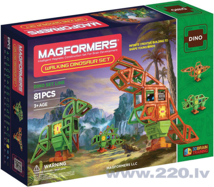 Конструктор Magformers Walking Dinosaur Set 63138 цена и информация | Konstruktori | 220.lv