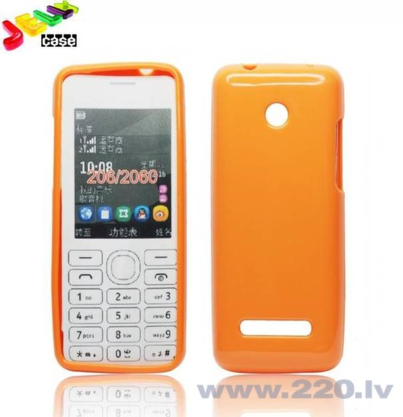 Forcell Jelly Back Case for Nokia 206 silikongēla telefona apvalks Oranžs