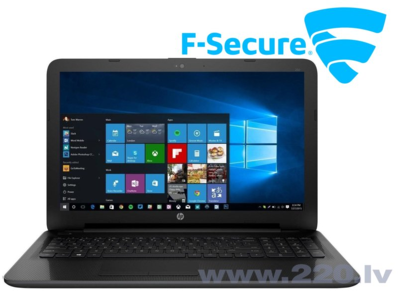 HP 250 G4 N0Z81EA Win10 + F-Secure Safe 1год 3 устройства цена и информация | Portatīvie datori | 220.lv