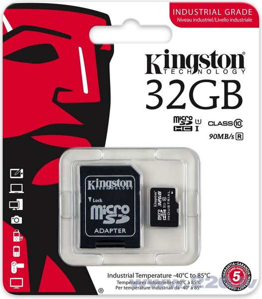 Kingston micro SD 32GB Class 10 U1 + adapteris lētāk