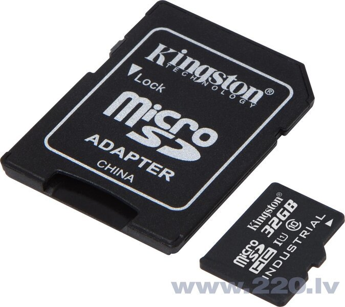 Kingston micro SD 32GB Class 10 U1 + adapteris internetā