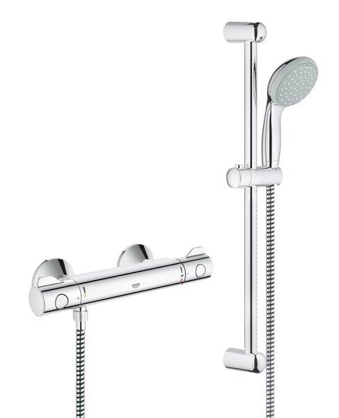 Dušas termostats ar dušas sistēmu Grohe Grohtherm 800 cena un informācija | Dušas un masāžas paneļi | 220.lv