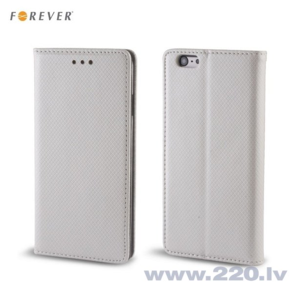 Forever Magnēstikas Fiksācijas Sāniski atverams maks bez klipša Huawei Honor 5X Sudraba cena un informācija | Maciņi, somiņas | 220.lv