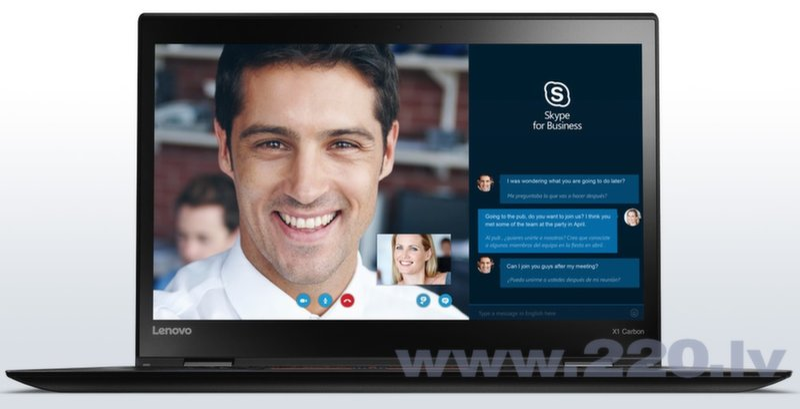 Lenovo Thinkpad X1 Carbon FHD (4gen) Win10Pro цена и информация   Portatīvie datori   220.lv