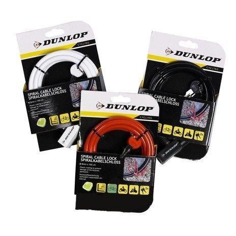 Velosipēda slēdzene Dunlop (8 mm x 150 cm) cena un informācija | Velosipēda piederumi | 220.lv
