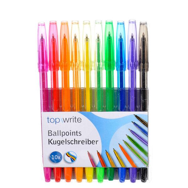 Krāsainas pildspalvas Topwrite, 10 gab. cena un informācija | Kancelejas preces | 220.lv