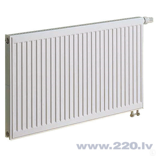 KERMI radiators 0.5 x 0.9 m, vienrindu, apakšā savienojums ar iebūvētu vārstu. cena un informācija | Apkures radiatori | 220.lv