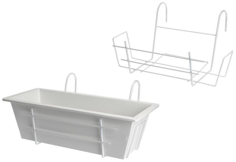 Balkona puķu kaste 40 cm cena un informācija | Balkona kastes | 220.lv