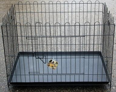 Dzīvnieku būris Happy Pet, 91x62x67 cm, melns cena un informācija | Transportēšanas būri, somas | 220.lv