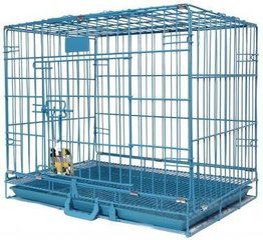 Metāla dzīvnieku būris Happy Pet 61x43x50 cm, zils