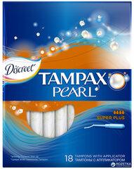 Tампоны Tampax Pearl Super Plus 18 шт. цена и информация | Интимная гигиена | 220.lv