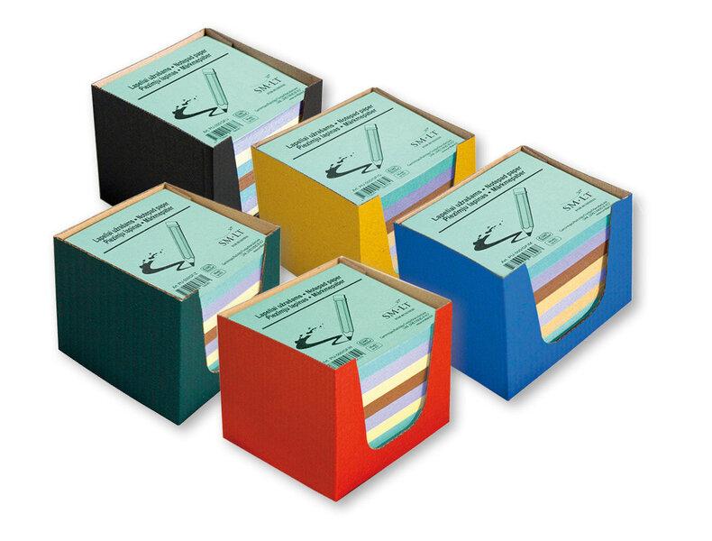 Krāsainu piezīmju lapiņu kaste Color, 500 gab., 90x90 mm cena un informācija | Kancelejas preces | 220.lv